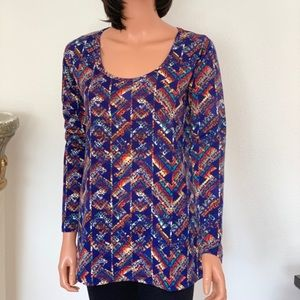 LuLaRoe Top S Designer Multicolor Trendy Female